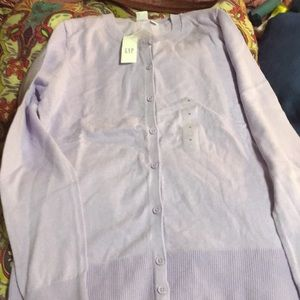 Lavender cardigan from gap